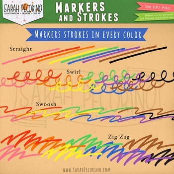 Markers Clip Art and Strokes