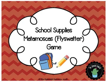 School Supplies Matamoscas (Flyswatter Game)