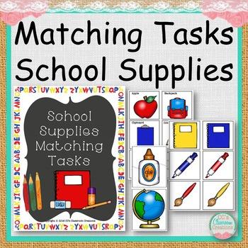 MATCHING TASKS School Supplies