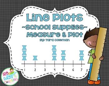 Line Plots~School Supplies