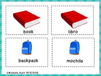 School Supplies Memory Game for Newcomers