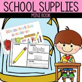 Spanish School Supplies Mini Book | Libro de Materiales Escolares
