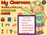 School Supplies - My Classroom - Power Point Interactive ESL Lesson - NO PREP