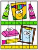School Supplies Number Puzzles