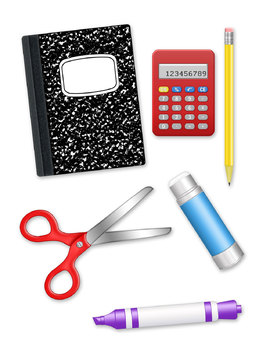 School Supplies Office Supplies Digital Clip Art PNG files Color Clip Art