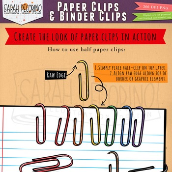 Paper Clips and Binder Clips Clip Art
