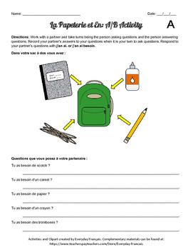 School Supplies / Papeterie Bundle!