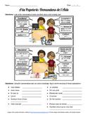 School Supplies / Papeterie Dialogues Worksheet