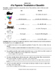 School Supplies / Papeterie Vocab and Quantities Worksheet