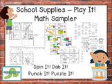 School Supplies - Play It! {Math Sampler}