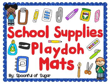 School Supplies Play-doh Fun!