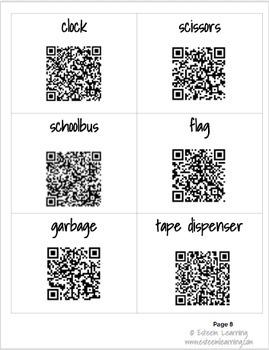 School Supplies - QR Code Scavenger Hunt for Interactive Notebooks - ESL/ELL/ELD
