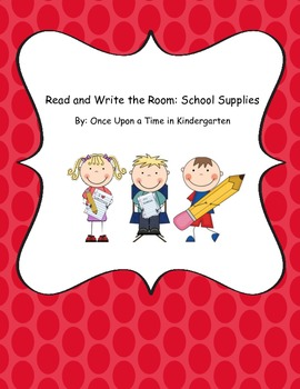 School Supplies Read and Write the Room