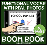 School Supplies: Real Photo Functional Vocabulary BOOM Card Book