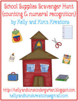 School Supplies Scavenger Hunt {counting & numeral recognition}