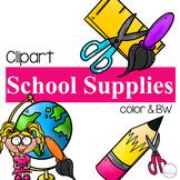 School Supplies {School Clipart}