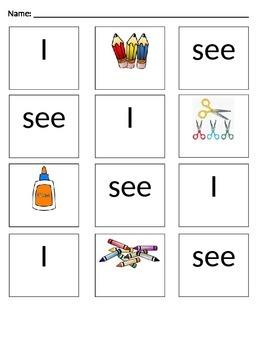 School Supplies- Sentence Recon