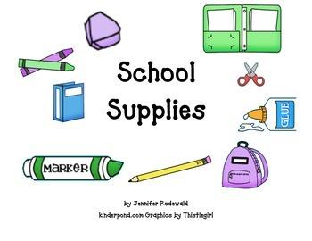 School Supplies: Shared Reading Book
