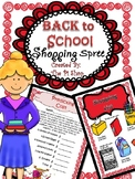 School Supplies Shopping Spree MATH REVIEW {Back to school} NO PREP