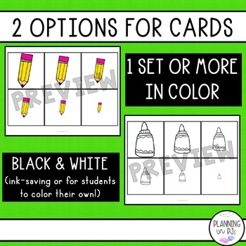 School Supplies Size Ordering Activities Bundle with Boom Cards