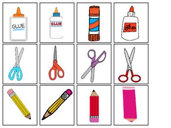School Supplies Sorting-Color