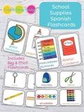 School Supplies Spanish Flashcards - El Material Escolar