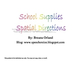 School Supplies Spatial Directions