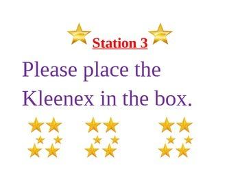 School Supplies Stations