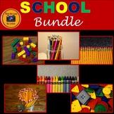 School Supplies Stock Photo Bundle