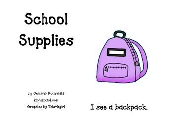 School Supplies: Student Reading Book (color)