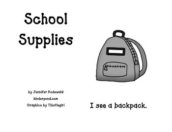 School Supplies: Student Reading Book (grey)