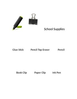 School Supplies Task Box