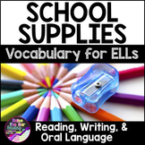 English as a Second Language ESL ELL - School Supplies Voc