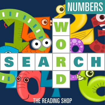 Numbers Word Search - Primary Grades - Wordsearch Puzzle