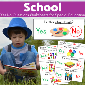 School Supplies Yes No Questions for Autism