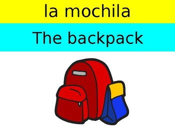 School Supplies and Clothing in Spanish