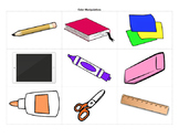 School Supplies and Colors Unit - lessons, worksheets, cli