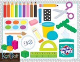 School Supplies and Special Education Tools Clip Art
