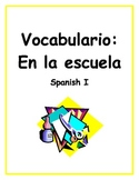 School Supplies and Subjects - Spanish Vocabulary Worksheet Packet