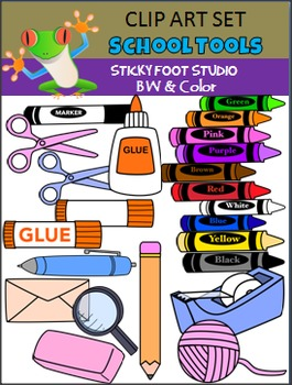 School Tools & Supplies Clip Art Set