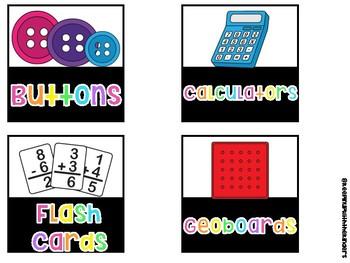 School Supplies for Target Labels