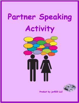 School Supplies in English Partner Speaking Activity