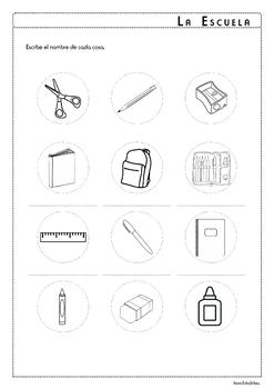 School Supplies in Spanish - La Escuela - Activity Pack