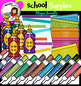 School Supplies set 1 clip Art