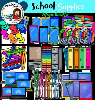 School Supplies set 5 clip Art set