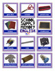 School Supply English and French Worksheets Memory Games and Puzzles