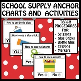School Supply Anchor Charts and Activities