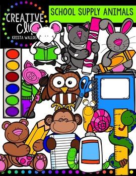 School Supply Animals {Creative Clips Digital Clipart}