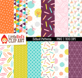 School Supply Background Patterns