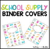 School Supply Binder Covers Freebie